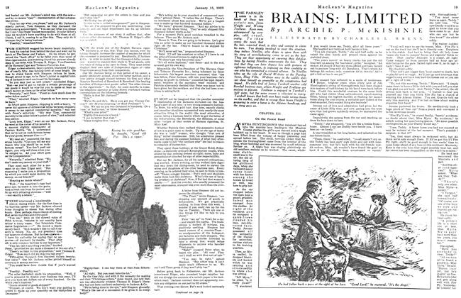 Article Preview: BRAINS: LIMITED, January 1923 | Maclean's