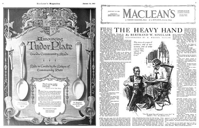 Article Preview: THE HEAVY HAND, January 1923 | Maclean's