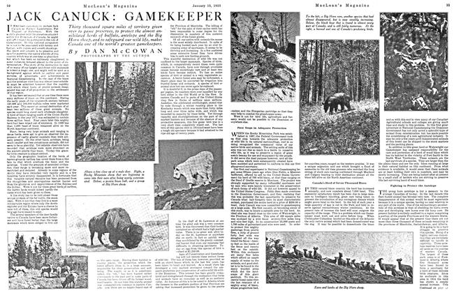 Article Preview: JACK CANUCK: GAMEKEEPER, January 1923 | Maclean's