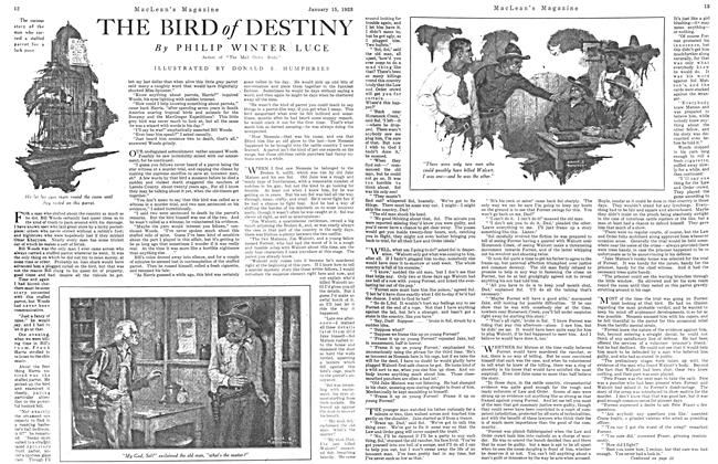 Article Preview: THE BIRD of DESTINY, January 1923 | Maclean's