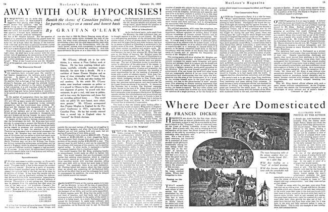 Article Preview: AWAY WITH OUR HYPOCRISIES!, January 1923 | Maclean's