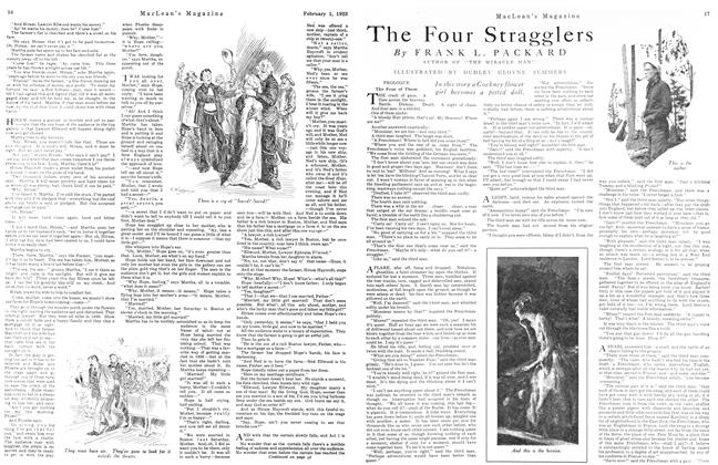 Article Preview: The Four Stragglers, February 1923 | Maclean's