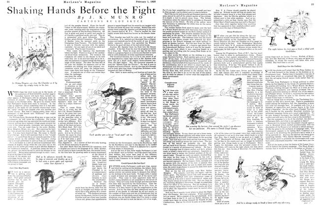 Article Preview: Shaking Hands Before the Fight, February 1923 | Maclean's