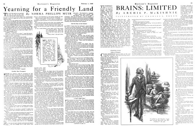 Article Preview: Yearning for a Friendly Land, February 1923 | Maclean's