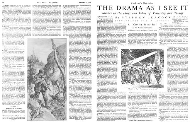 Article Preview: THE DRAMA AS I SEE IT, February 1923 | Maclean's