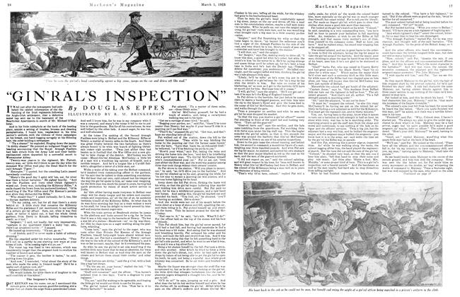 "Article Preview: ""GIN'RAL'S INSPECTION'', March 1923 