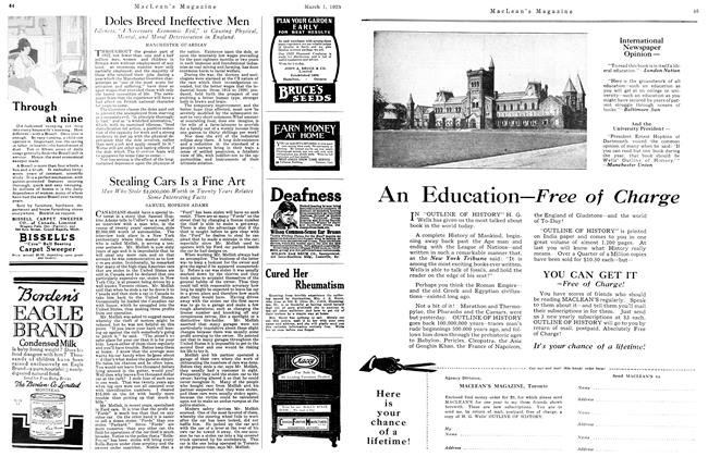 Article Preview: Doles Breed Ineffective Men, March 1923 | Maclean's