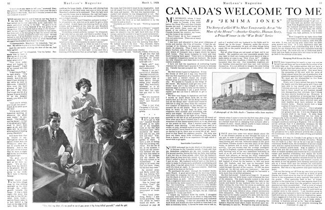 Article Preview: CANADA'S WELCOME TO ME, March 1923 | Maclean's