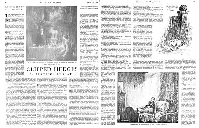 Article Preview: CLIPPED HEDGES, March 1923 | Maclean's