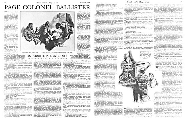 Article Preview: PAGE COLONEL BALLISTER, March 1923 | Maclean's