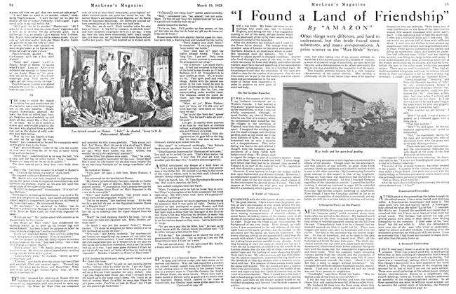 "Article Preview: ""I Found a Land of Friendship"", March 1923 