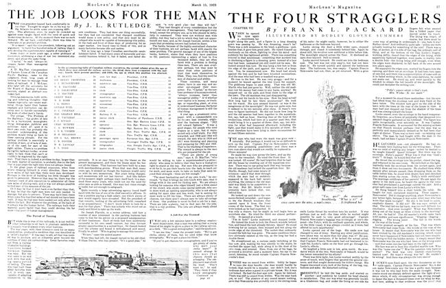 Article Preview: THE FOUR STRAGGLERS, March 1923 | Maclean's