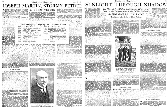 Article Preview: JOSEPH MARTIN, STORMY PETREL, April 1923 | Maclean's