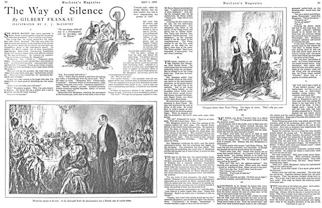 Article Preview: The Way of Silence, April 1923 | Maclean's