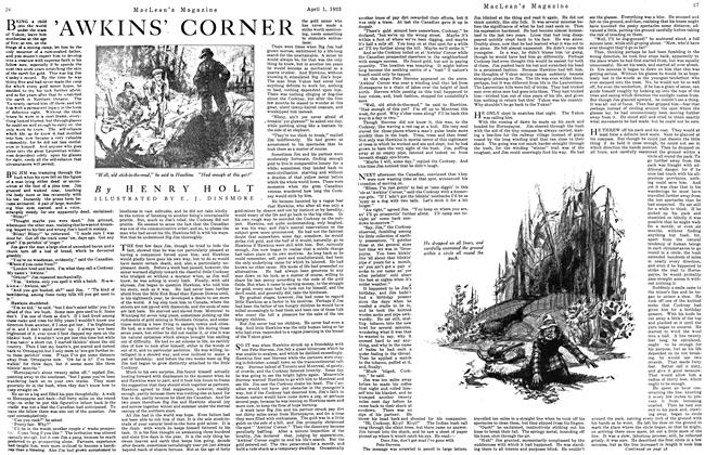 Article Preview: 'AWKINS' CORNER, April 1923 | Maclean's