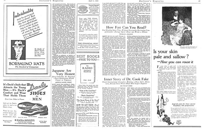 Article Preview: How Fast Can You Read?, April 1923 | Maclean's