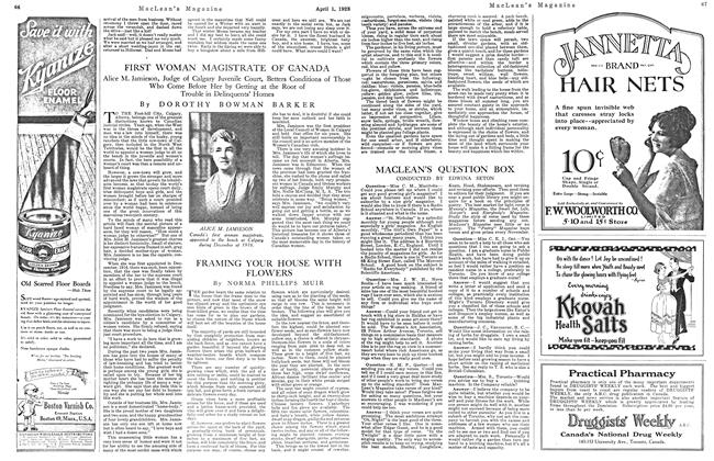 Article Preview: MACLEAN'S QUESTION BOX, April 1923 | Maclean's