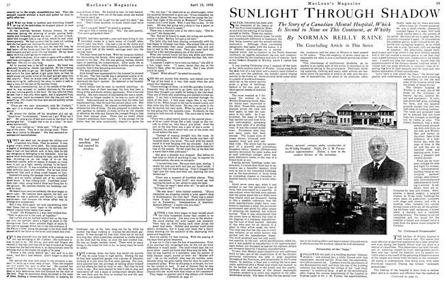 Article Preview: SUNLIGHT THROUGH SHADOW, April 1923 | Maclean's