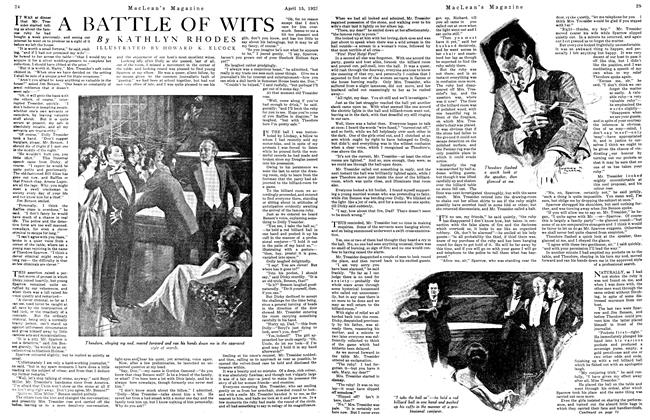 Article Preview: A BATTLE OF WITS, April 1923 | Maclean's