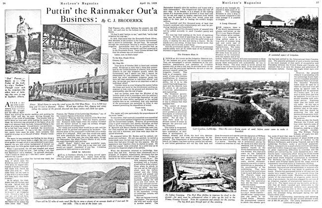 Article Preview: Puttin' the Rainmaker Out'a Business, April 1923 | Maclean's
