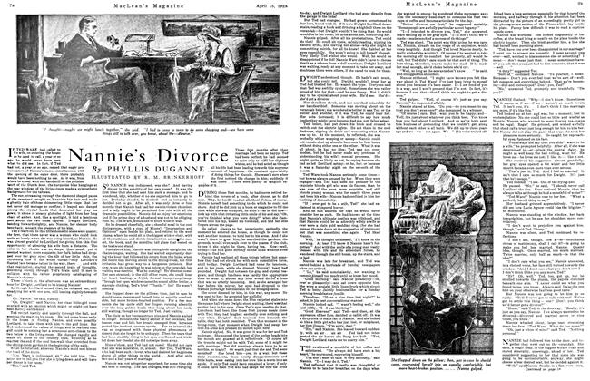 Article Preview: Nannie's Divorce, April 1923 | Maclean's