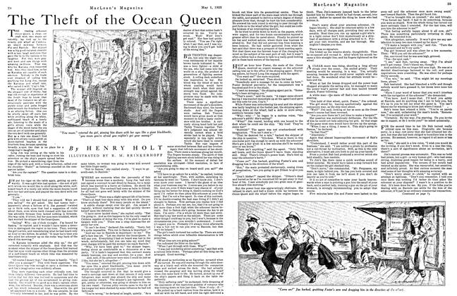 Article Preview: The Theft of the Ocean Queen, May 1923 | Maclean's