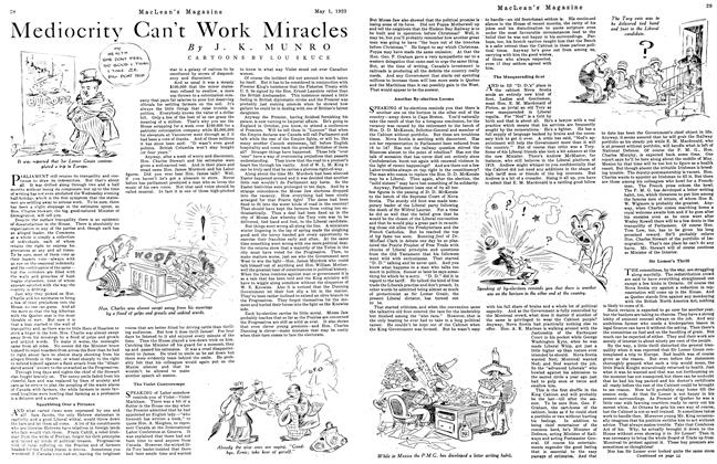 Article Preview: Mediocrity Can't Work Miracles, May 1923 | Maclean's