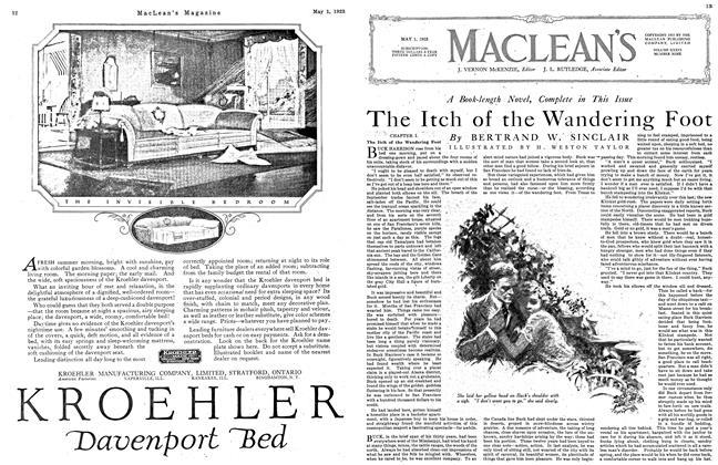 Article Preview: A Book-length Novel, Complete in This Issue The Itch of the Wandering Foot, May 1923 | Maclean's