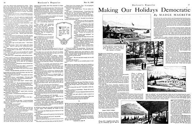Article Preview: Making Our Holidays Democratic, May 1923 | Maclean's