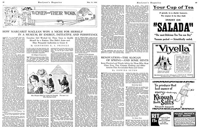 Article Preview: RENOVATION—THE SLOGAN OF SPRING—AND SOME HINTS, May 1923 | Maclean's