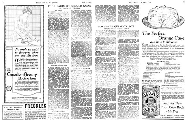 Article Preview: MACLEAN'S QUESTION BOX, May 1923   Maclean's