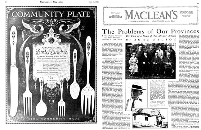 Article Preview: The Problems of Our Provinces, May 1923 | Maclean's