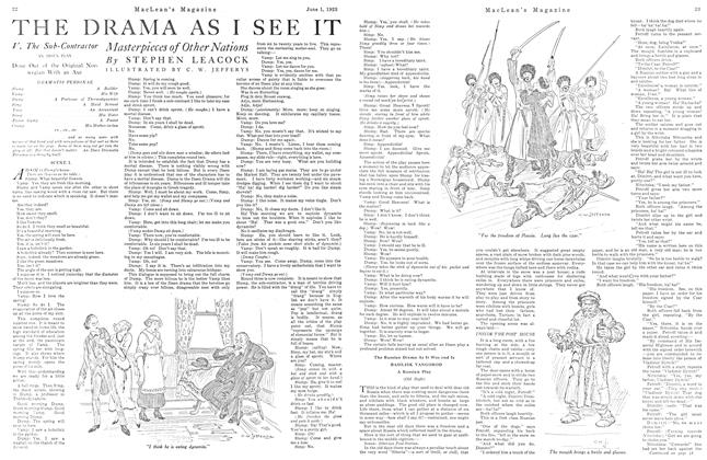 Article Preview: THE DRAMA AS I SEE IT, June 1923   Maclean's