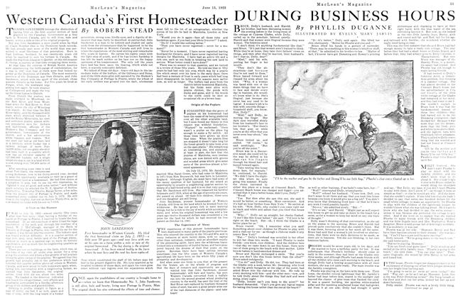 Article Preview: Western Canada's First Homesteader, June 1923 | Maclean's