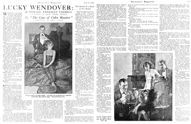 Article Preview: LUCKY WENDOVER: The Second of Series of Five Stories, June 1923 | Maclean's