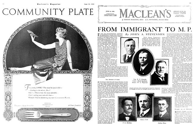 Article Preview: FROM IMMIGRANT TO M. P., June 1923 | Maclean's