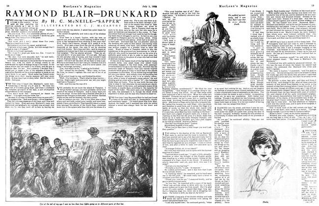 Article Preview: RAYMOND BLAIR—DRUNKARD, July 1923 | Maclean's