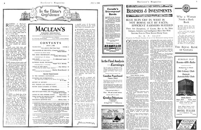 Article Preview: BLUE RUIN CRY IN WEST IS NOT BORNE OUT BY FACTS; EFFICIENT FARMERS SUCCEED, July 1923 | Maclean's