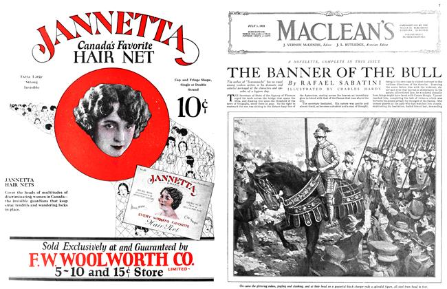 Article Preview: THE BANNER OF THE BULL, July 1923 | Maclean's