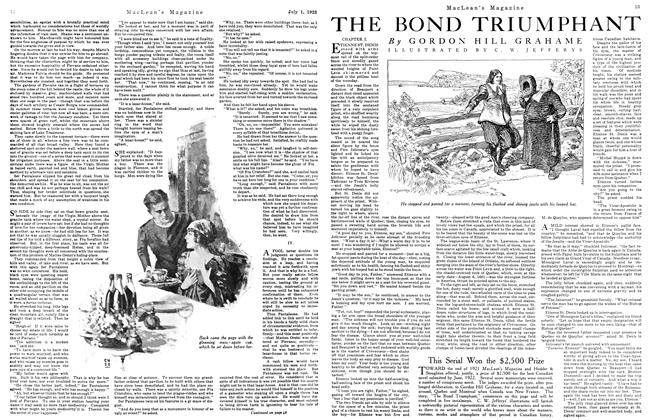 Article Preview: THE BOND TRIUMPHANT, July 1923 | Maclean's
