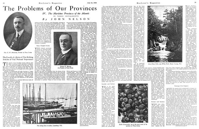 Article Preview: The Problems of Our Provinces, July 1923 | Maclean's