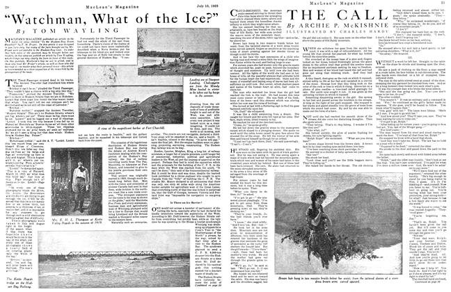 "Article Preview: ""Watchman, What of the Ice?"", July 1923 