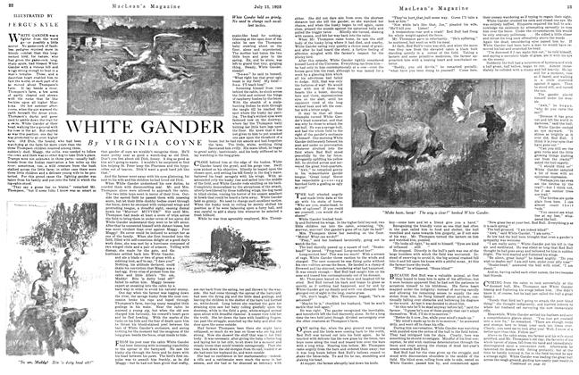 Article Preview: WHITE GANDER, July 1923 | Maclean's
