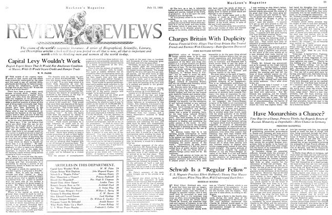 "Article Preview: Schwab Is a ""Regular Fellow"", July 1923 | Maclean's"