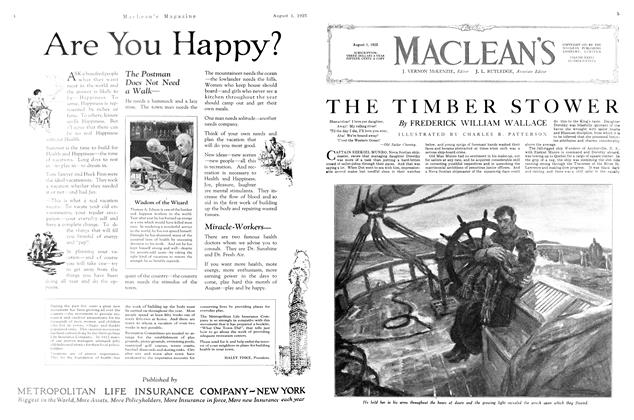 Article Preview: THE TIMBER STOWER, August 1923 | Maclean's
