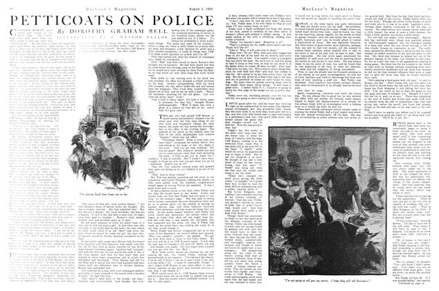 Article Preview: PETTICOATS ON POLICE, August 1923 | Maclean's
