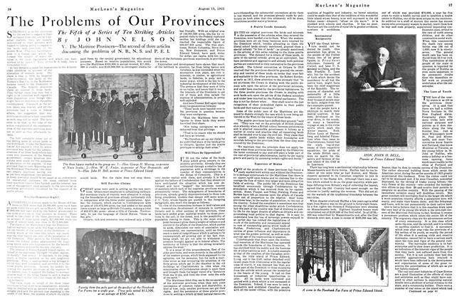 Article Preview: The Problems of Our Provinces, August 1923 | Maclean's