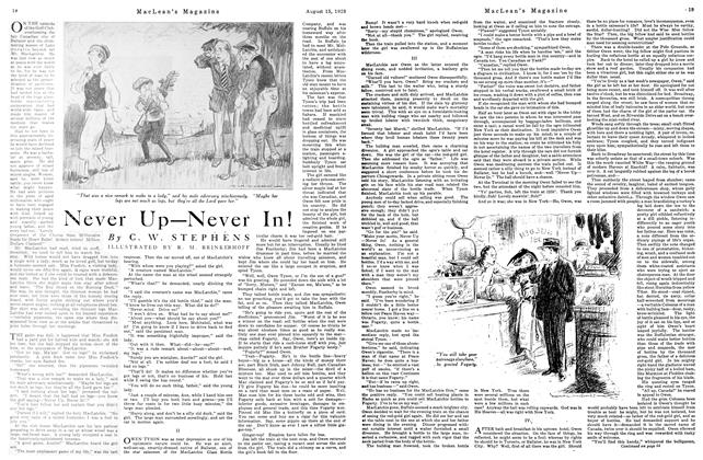 Article Preview: Never Up—Never In!, August 1923 | Maclean's