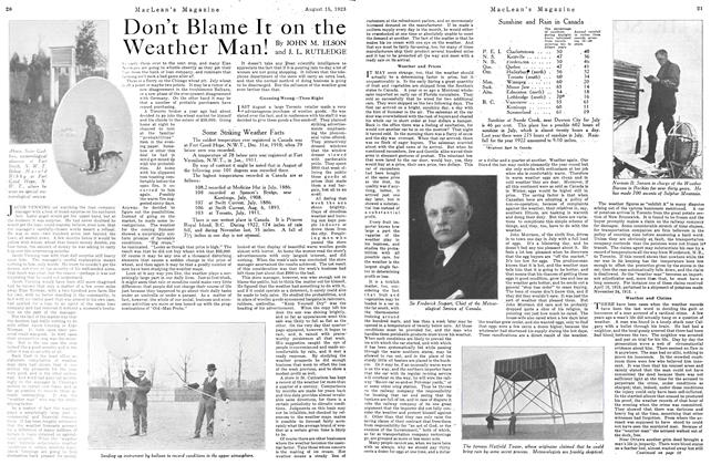Article Preview: Don't Blame It on the Weather Man!, August 1923 | Maclean's
