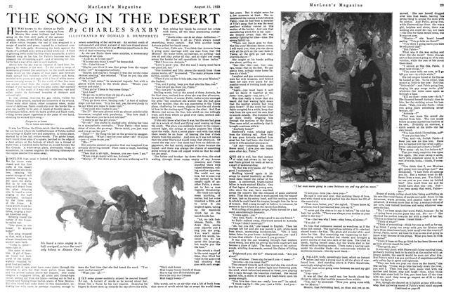 Article Preview: THE SONG IN THE DESERT, August 1923 | Maclean's